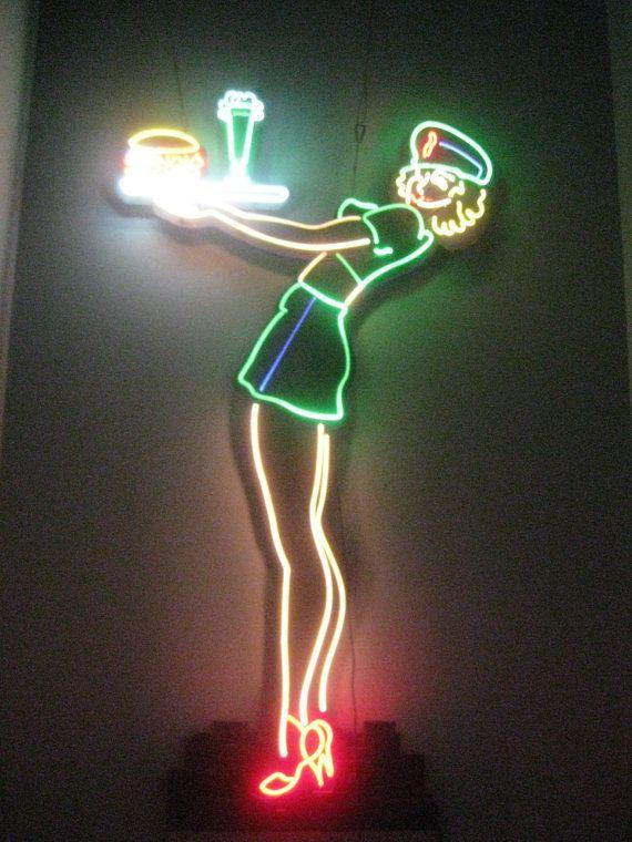 Vintage 50's style Retro WAITRESS Neon Sign by VINTAGENEON4SALE, $6900.00