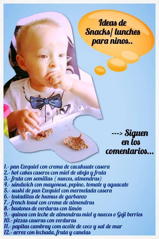 Ideas de snacks para niños!