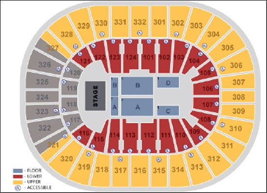 Smoothie King Center seating chart for Justin Timberlake Justin Timberlake Tour Tickets at Smoothie King Center in New Orleans LA on 8/3/2014