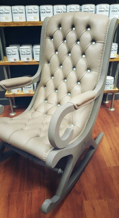 Chesterfield Leather Rocking Chair Transformed Using Chalk Paint Decorative  Paint By Annie Sloan. Handpainted By Ideas