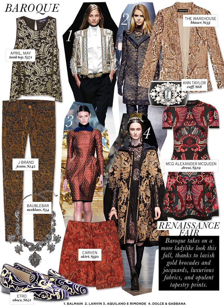 Who What Wear | Fall 2012 Trend Guide | Baroque