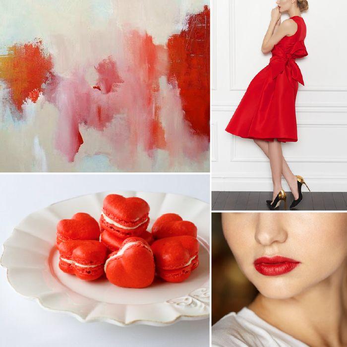Valentine's Day Red Wedding Color Palette Inspiration   Via Modernly Wed-01