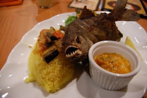 Humans bite back: Japanese restaurant serves gourmet fried piranha