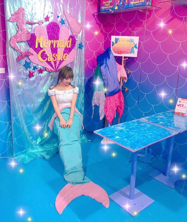Mermaid cafe in Bangkok, Thailand