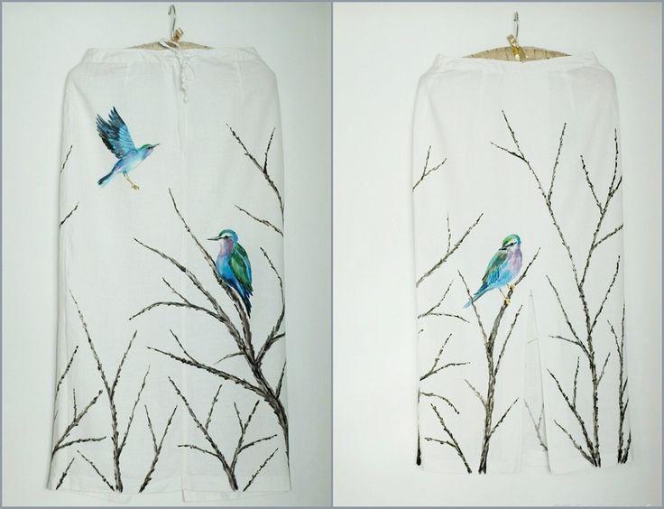 Ręcznie malowana spódnica / Hand painted skirt