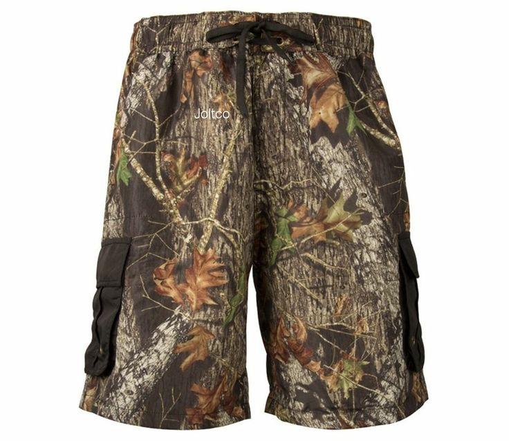 mossy oak camo mens cargo board shorts swim trunks