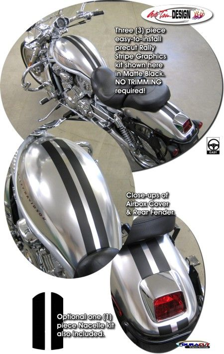 Motorcycle specific graphic kits for HarleyDavidson VRod