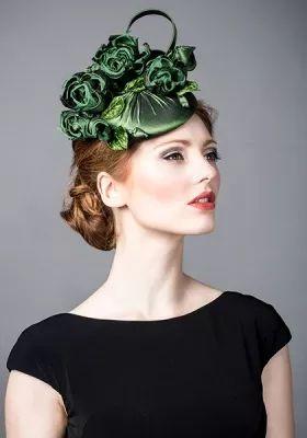 Рейчел Тревор-Морган :: Зеленый шелк тафта дот с классическими розами