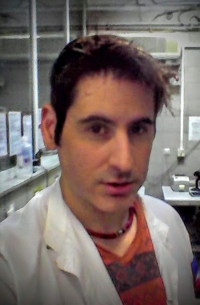 Selfie of Dr. James Manos (MD) at the Hospital's Lab