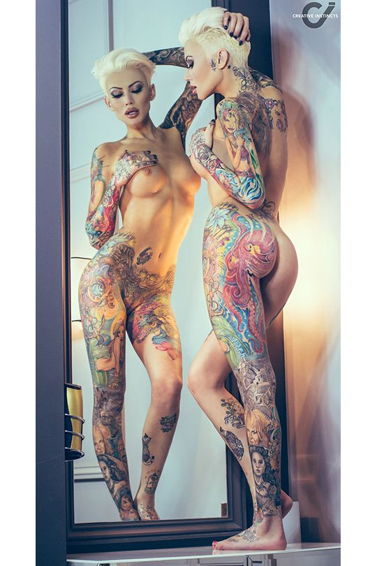 Images of nude tattooed women