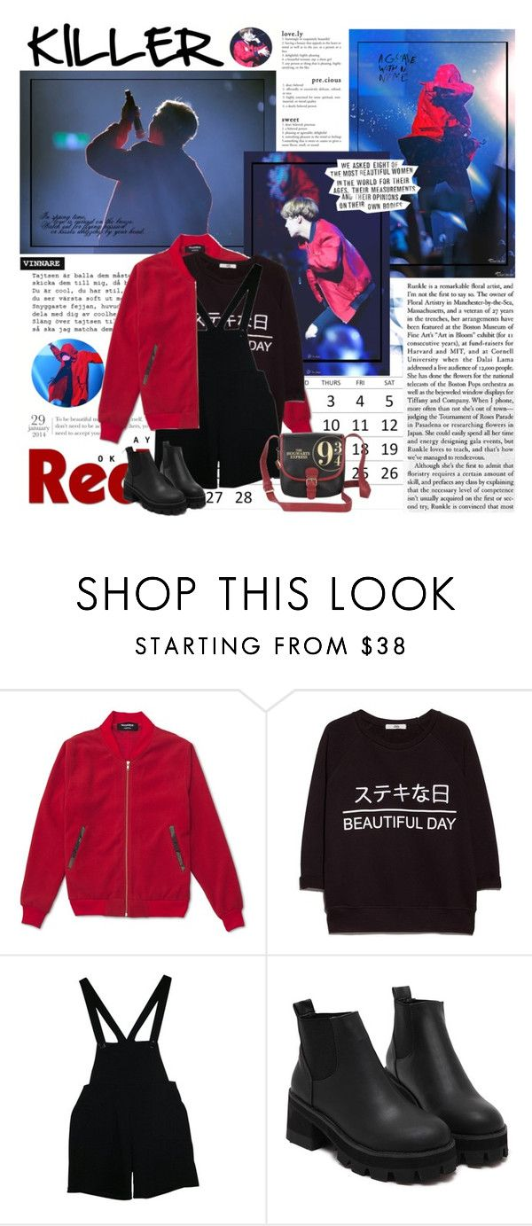 """""""#182  BTS - Cypher PT 3: KILLER"""" by explorer-14331536494 ❤ liked on Polyvore featuring MANGO, American Apparel, daria and Chandelier"""