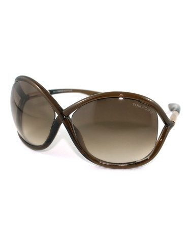 Take a look at this Brown Whitney Sunglasses by Tom Ford on #zulily today!