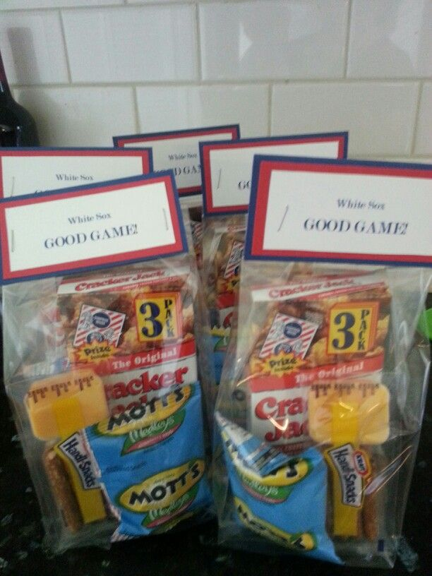 T-ball snack bags