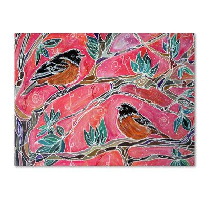 """Trademark Art 'The Song of the Orioles' Print on Wrapped Canvas Size: 14"""" H x 19"""" W"""