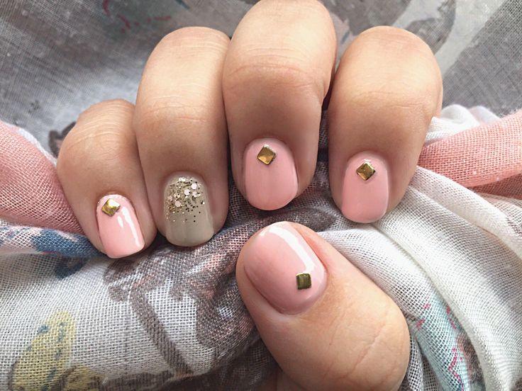 #notd #pastels #essie #sandtropez #O•P•I #sweetheart #gold #babypink #beige #nails #nail #nailart #