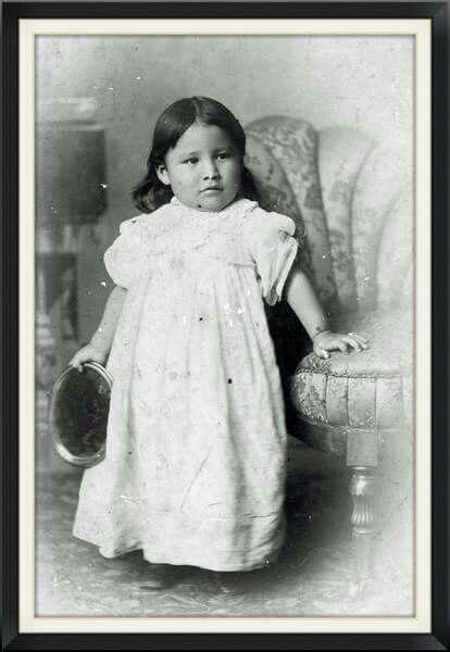 Zintka Lanuni - Lost Bird orphaned at Wounded Knee, 12/29/1890.