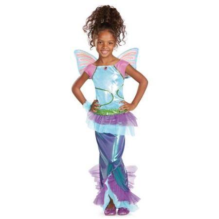 Winx Club Deluxe Aisha Mermaid Costume Child Medium (7-8)