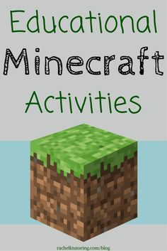 List of resources from around the web with math and language arts ideas for using Minecraft in the classroom! Educational Minecraft Activities   Rachel K Tutoring Blog #edtech