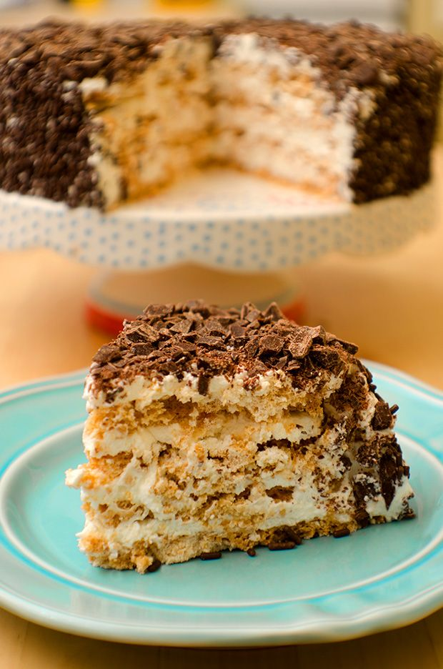 Crispy Almond Meringue Layer Cake