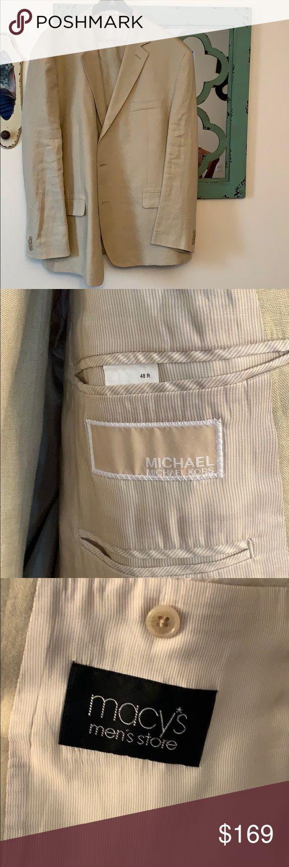 Michael Kor's men's Linen Two Piece Suit Michael Kors Men's Two Piece Line…