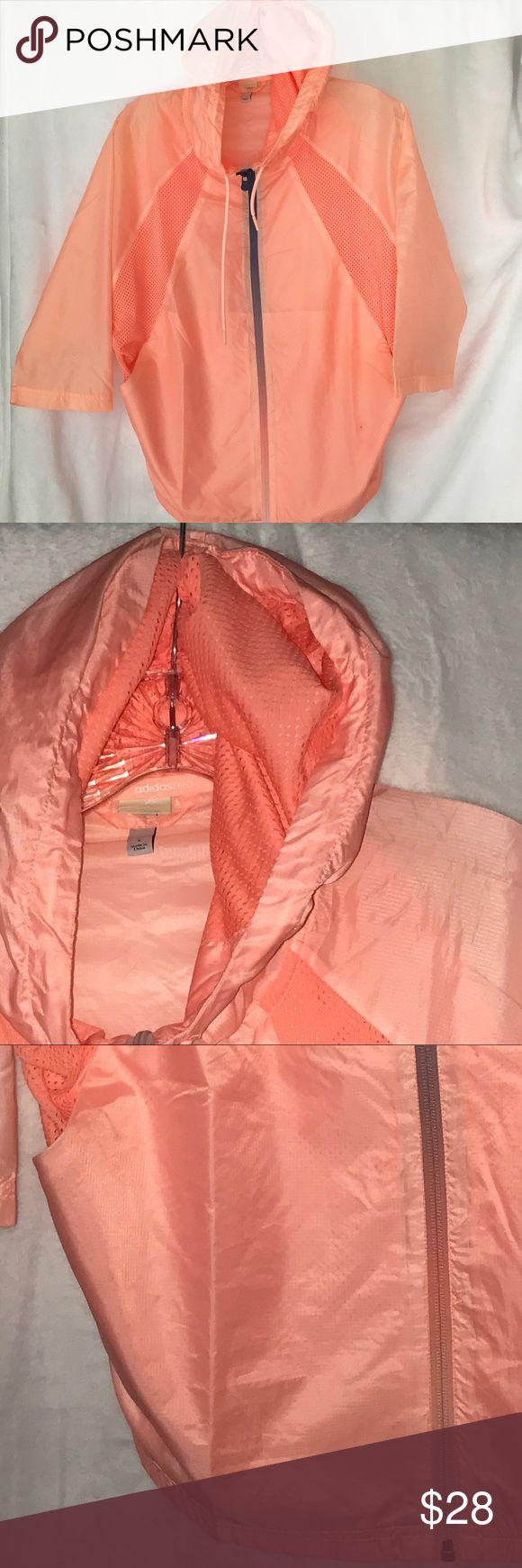 Women's peach Adidas Nero hooded jacket, Small Women's peach Adidas Nero hooded jacket, Small adidas Jackets & Coats