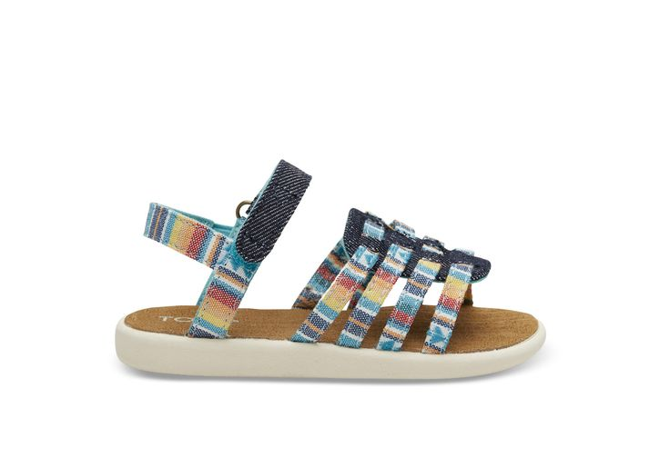 undefined Multi Blanket Stripe Tiny TOMS Huarache Sandals