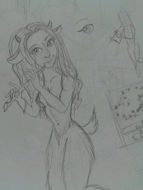 Development  faun sketch