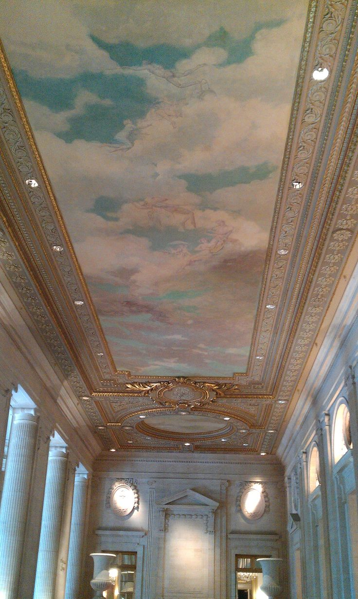 The ceiling of the ballroom in our hotel.