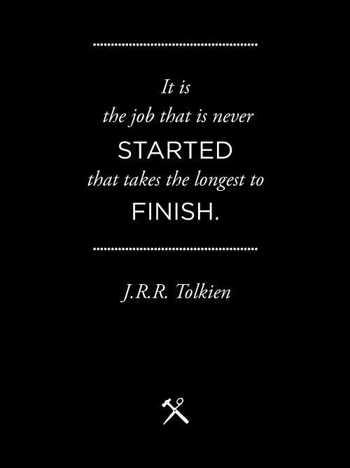 J.R.R. Tolkien. Procrastination.