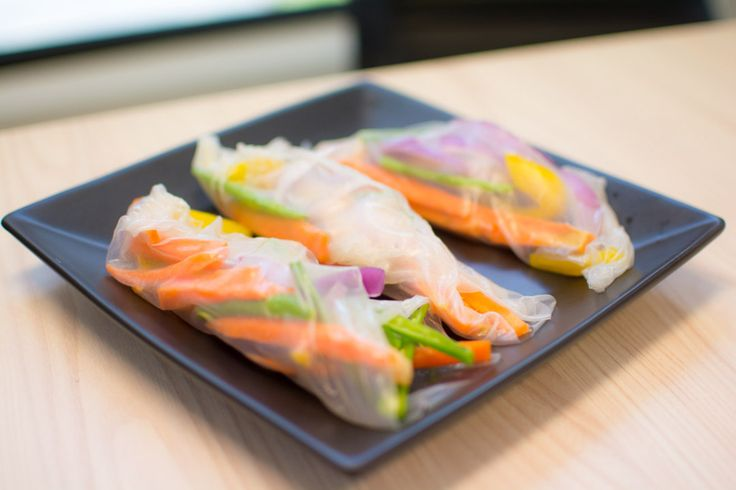 Rice Paper Rolls  Why not make something healthy for dinner that your children will enjoy helping you prepare!?