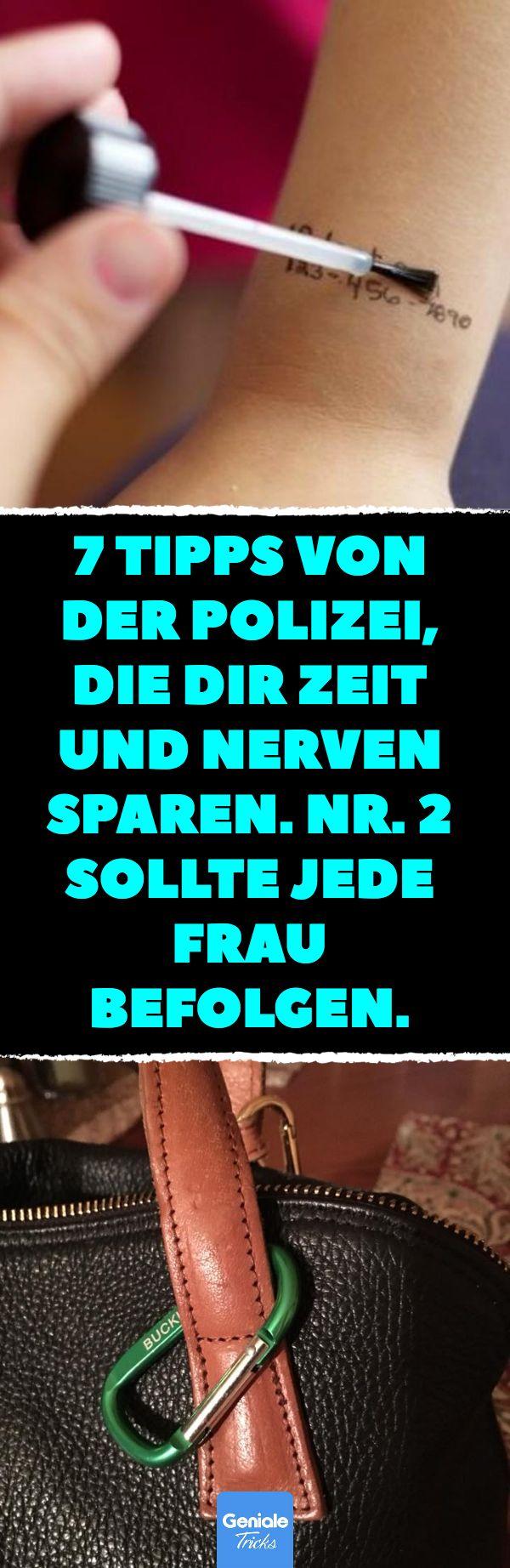 7 Tipps von der Polizei, die dir Zeit und Nerven sparen. Nr. 2 sollte jede Frau befolgen. 7 Tipps von der Polizei, um dich im Notfall zu schützen. #polizei #diebstahl #notfall #schutz #verkehrskontrolle #kind #strafzettel – Geniale Tricks