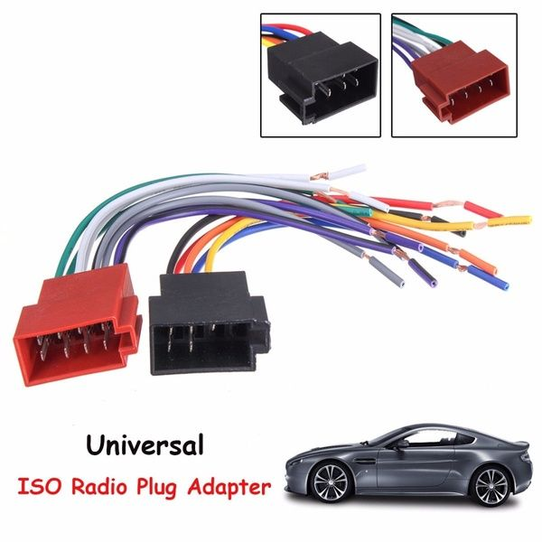 Universal Car Stereo Female Socket Radio Iso Wire Harness Adapter Connector Wish Car Stereo Adapter Plug Radio