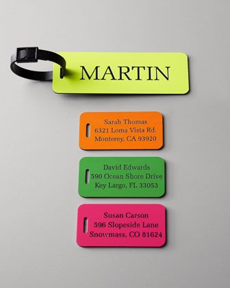 Personalized Luggage Tags at Horchow.