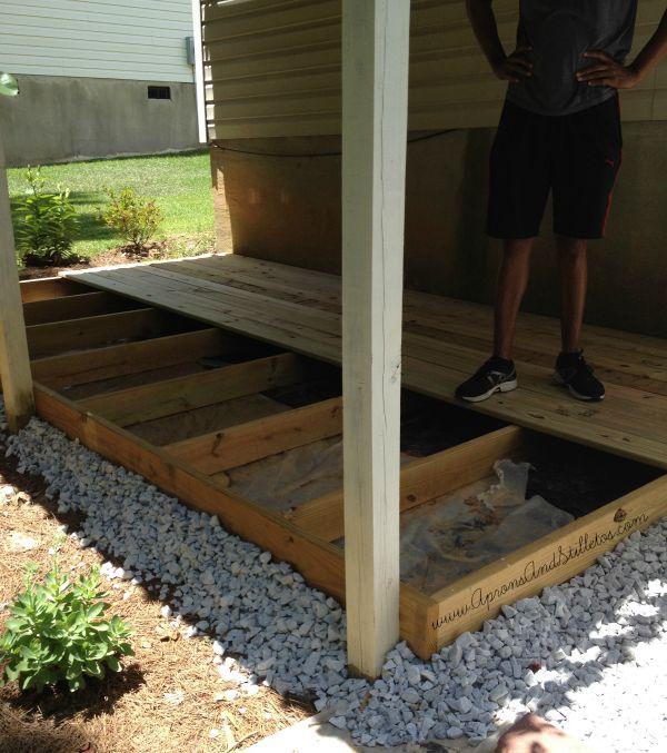 Diy Ground Level Deck Update Aprons And Stilletos
