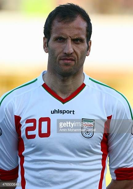 Mohsen Bengar of Iran looks on during the AFC Asian Cup Qualifier between Iran and Kuwait on March 3 2014 in Tehran Iran