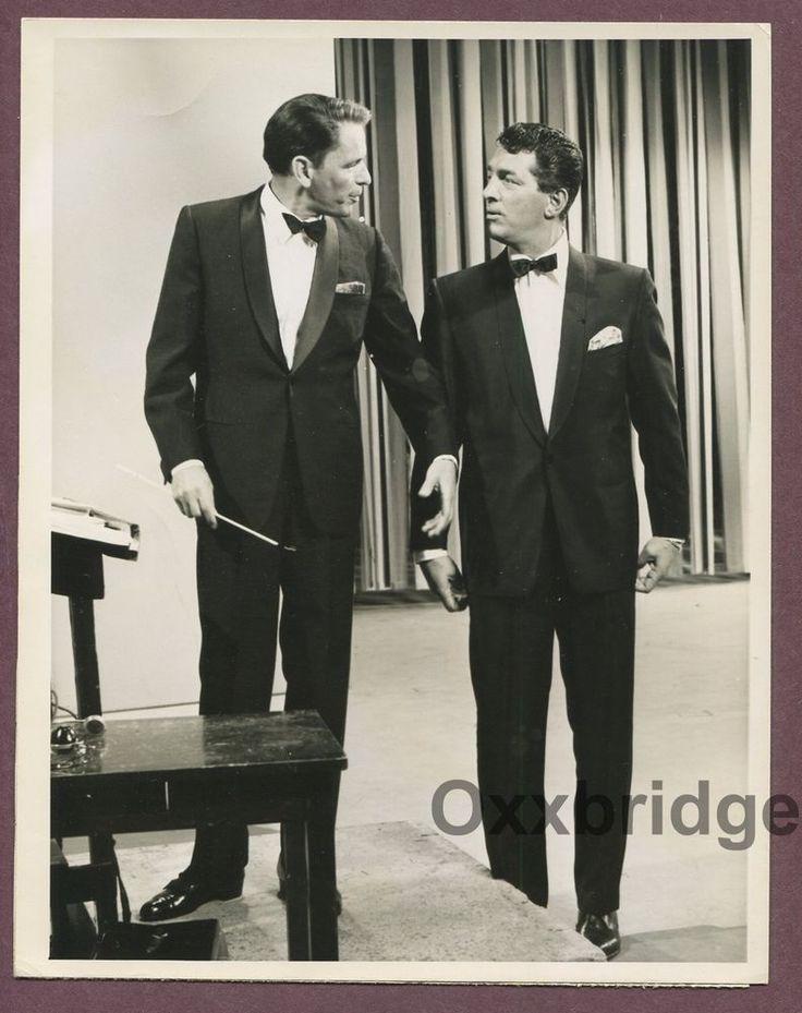 FRANK SINATRA Dean Martin Show 1959 ORIGINAL NBC TV Photo Rat Pack J961