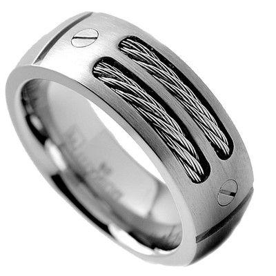 Wedding Bands | Wayfair - Buy Gunmetal, Tungsten, Titanium, Silver ...