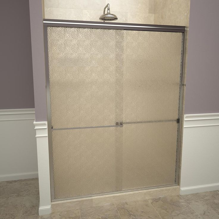Redi Slide 1000 Series 47 In W X 70 In H Semi Frameless Sliding Shower Doors In Polished Chrome With Towel Bar And Obscure Glass Frameless Sliding Shower Doors Shower Doors Framed Shower Door