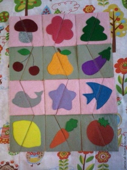 Купить ПАЗЛЫ из фетра.(в НАЛИЧИИ) - развивающая игрушка, для детей от года, подарок малышу
