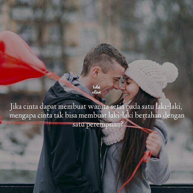"""""""Jika cinta dapat membuat wanita setia pada satu laki-laki mengapa cinta tak bisa membuat laki-laki bertahan dengan satu perempuan?"""" .  Kiriman dari @restamahesa04 . .  Tag like dan Comment.  Kirim(DM /Tag) kata-kata buatanmu ya.  #pathdaily #yangterdalam #tumblrquotes #quotesindonesia #sajak #puisi #sastra #kutipan #katakata #pathindonesia #catatanfilm #pecahankaca #indopostgram #melodydalampuisi"""