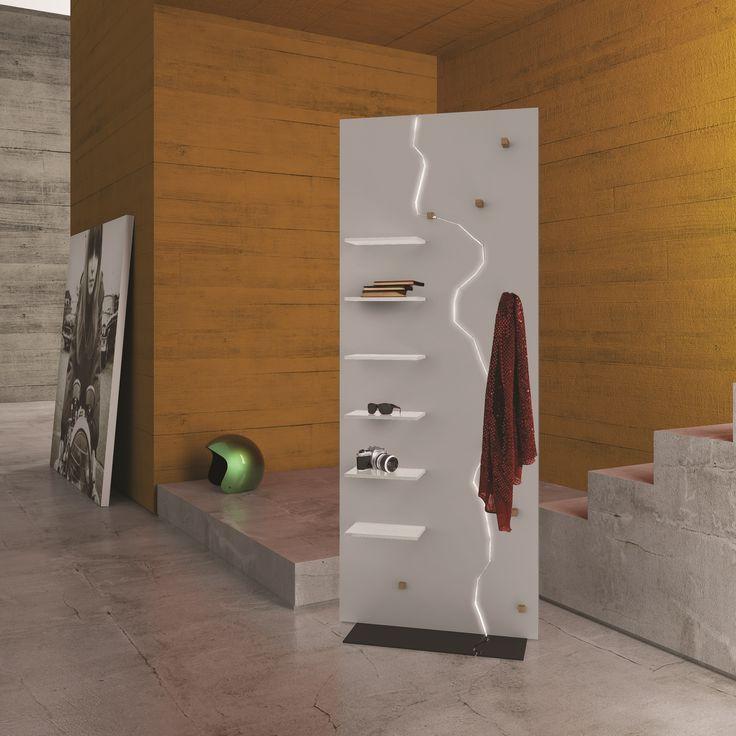 Cabide de MDF DOUBLE by ARKOF LABODESIGN design Fabrizio Contaldo