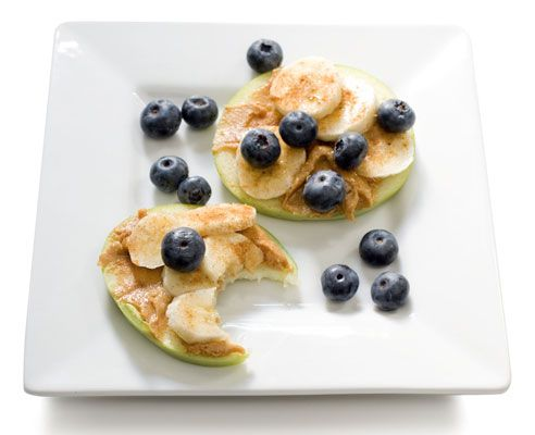 healthy snacks | healthy-snacks-for-100-calories-or-less-Peanut-Butter-Banana-Apple ...