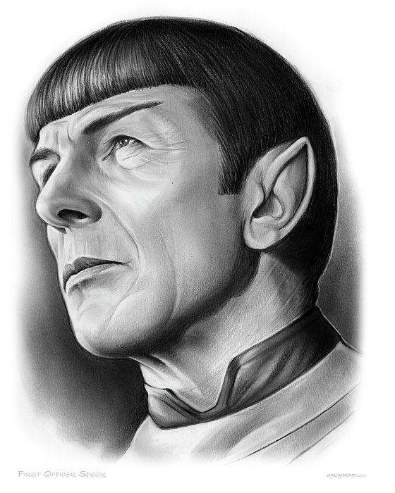 Pencil Drawing of Star Trek - USS Enterprise First Officer Spock.