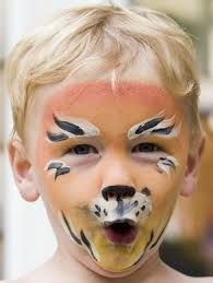 Easy cheetah face paint for kids - photo#16