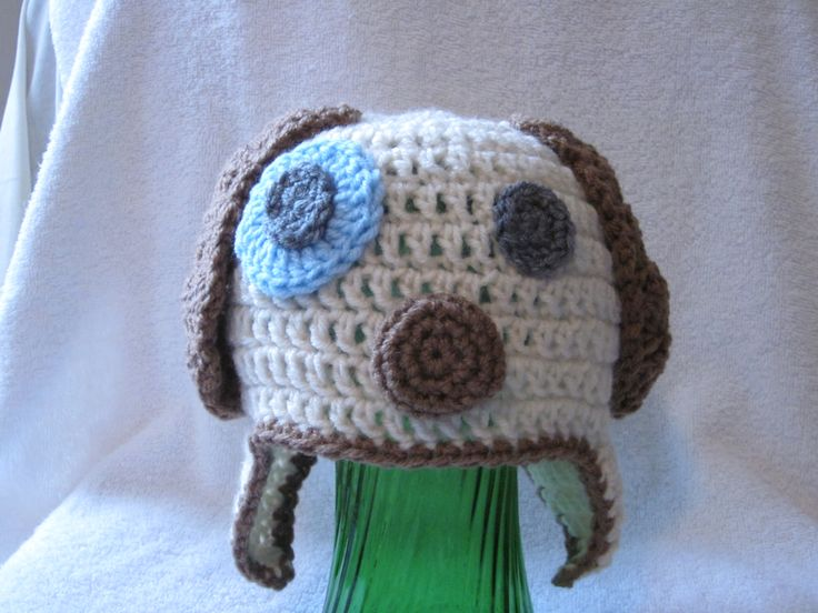 Knitting Pattern Hat Dog : Puppy Dog Crochet Hat Pattern   toddler size Knitting and Crochet Blog Cr...