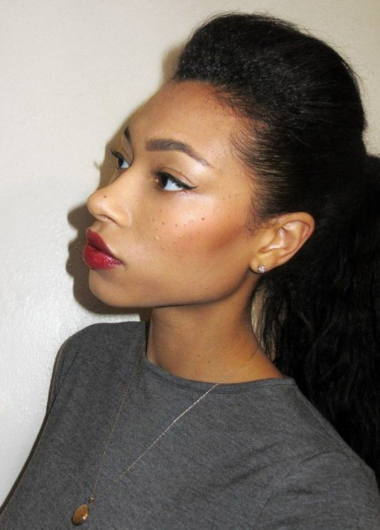 Hairstyles For Straight Relaxed Hair : Relaxed hair on healthy my goals and