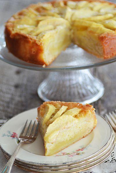 gâteau, pommes,gâteau normand aux pommes, vanille, beurre