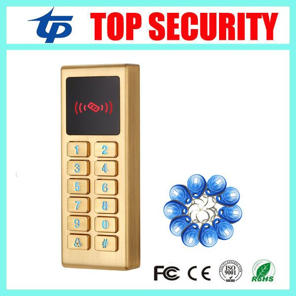 ID card access controller waterproof surface metal RFID card door access control reader single standalone access control reader