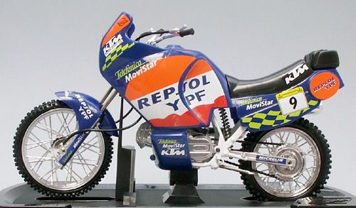 Guiloy 1/10 KTM LC8 950 Rally Motorbike