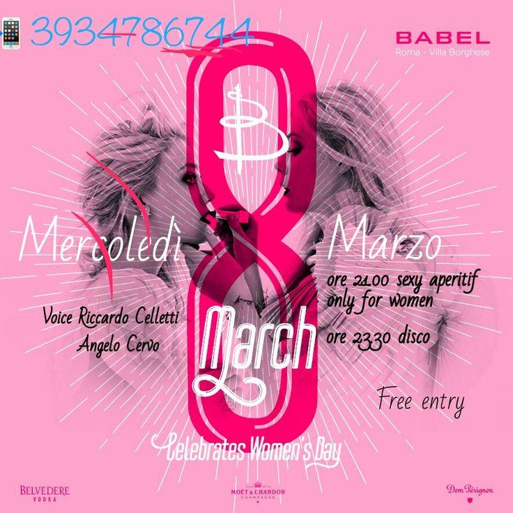 8 marzo 2017 Festa della Donna Babel (Art Cafe chiuso) 3934786744